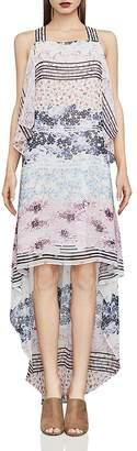 BCBGMAXAZRIA Aaric Floral Print High/Low Dress