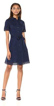 Shoshanna Women's Irene Short Sleeve Shirt Dress