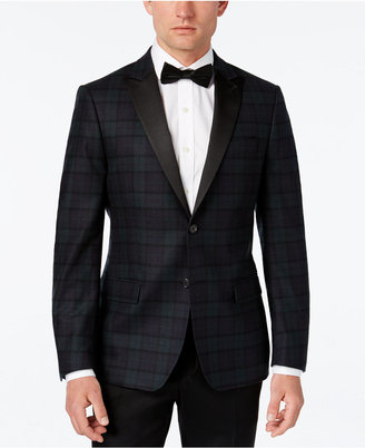 Lauren Ralph Lauren Classic-Fit Navy Green Plaid Dinner Jacket $350 thestylecure.com