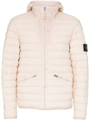 Stone Island hooded feather down padded jacket