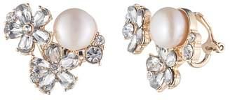 Carolee Cultured Freshwater Pearl Cluster Clip Earrings