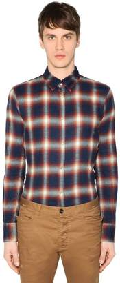 DSQUARED2 Button Down Check Cotton Shirt