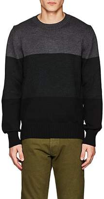 Officine Generale MEN'S COLORBLOCKED MERINO WOOL SWEATER