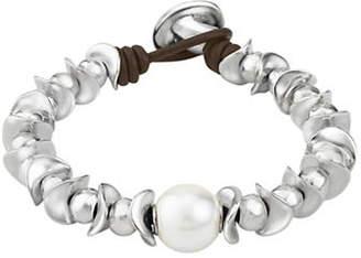 Uno de 50 Oasis Dessert Pearl Beaded Silver Bracelet