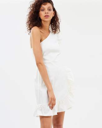 J.Crew One-Shoulder Ruffle Dress