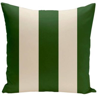 """E By Design Simply Daisy 16"""" x 16"""" Holiday Brights Collection Striped Pillow"""