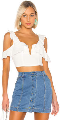 superdown Claire Cold Shoulder Crop Top