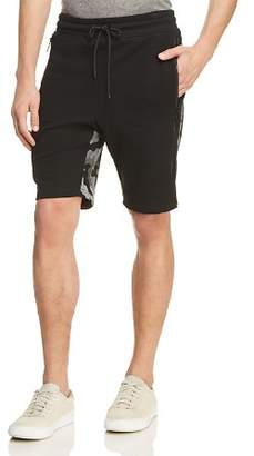 Tackma Miur Camouflage-Panel Fleece Shorts