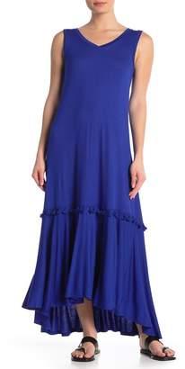 Spense Tassel Flounce Maxi Dress