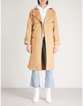 Mo&Co. Double-breasted cotton-twill trench coat