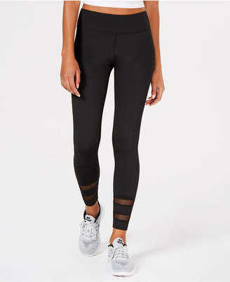 Freshman Juniors' Mesh-Inset Leggings