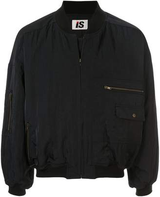 Issey Miyake Pre-Owned 1980's Sports Line logo lightweight bomber