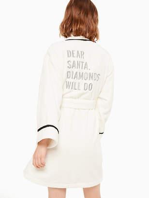 Kate Spade Printed plush robe
