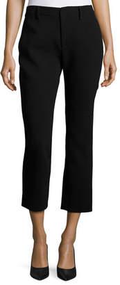 Co Crepe Cigarette Pants, Black