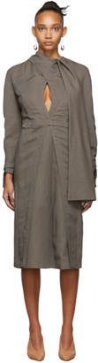 Situationist Brown Wool Cape Dress