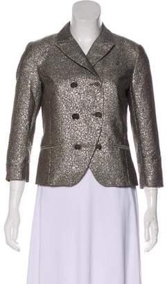 Diane von Furstenberg Metallic Structured Blazer