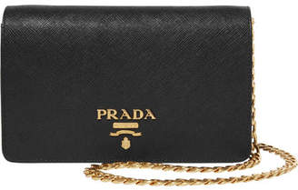 Prada - Textured-leather Shoulder Bag - Black $1,190 thestylecure.com