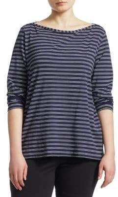 Marina Rinaldi Marina Rinaldi, Plus Size Double Stripe Tee