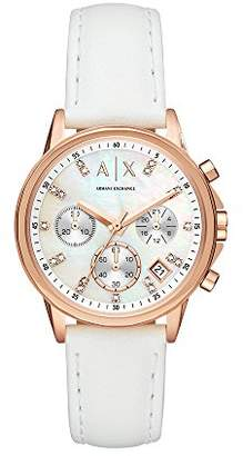Armani Exchange Women's 'Chronograph' Quartz Stainless Steel and Leather Casual Watch