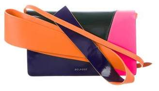 DELPOZO Colorblock Leather Clutch
