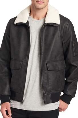 Dockers Faux Leather Aviator Jacket