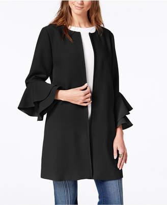 Alfani Petite Flared-Sleeve Collarless Jacket