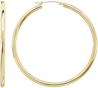 FINE JEWELRY Infinite Gold 14K Yellow Gold 50mm Hollow Hoop Earrings