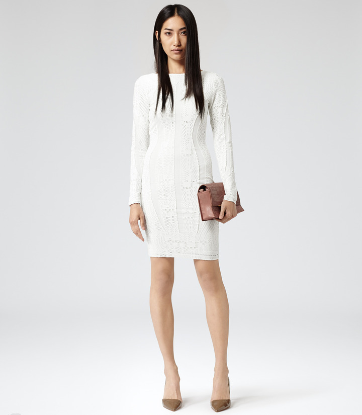Reiss Neo LACE BODYCON DRESS