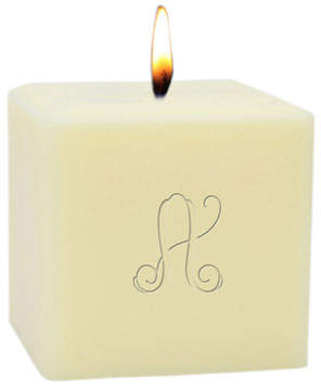 "Carved Solutions Monogram 3"" Eco-Luxury Soy Candle"