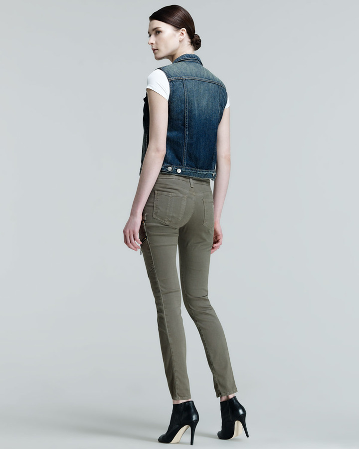 Rag and Bone Lariat Army Skinny Zip-Pocket Cargo Pants