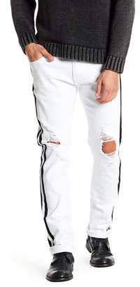 X-Ray Distressed Stripe Standard Fit Jeans - 30-32 Inseam
