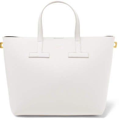 TOM FORD - T Mini Textured-leather Tote - White