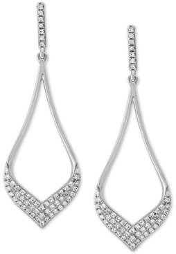 Effy Diamond Pave Teardrop Drop Earrings (1/3 ct. t.w.) in 14k White Gold