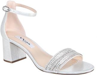7523f36a2385 Nina Block Heel With Crystal Strap Sandals - Elenora
