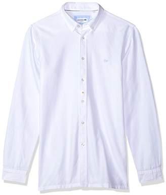 Lacoste Men's Long Sleeve 'Smart-Leisure' Slim Fit Woven Shirt