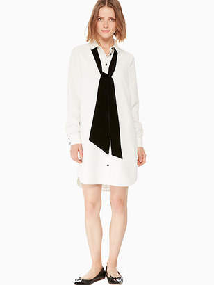 Kate Spade Velvet tie griffin dress
