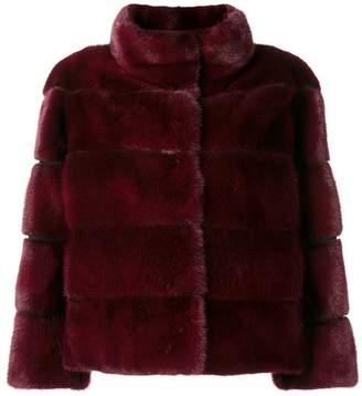 Arma short hooded jacket
