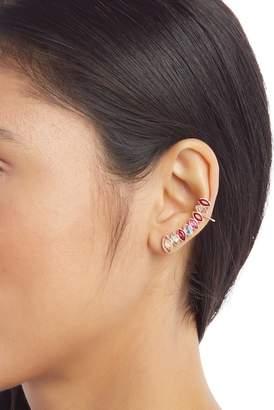 Rebecca Minkoff Stacked Sparkler Crawler Earrings