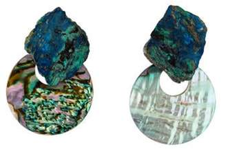 Stephen Dweck Azurmalachite & Abalone Drop Earrings silver Azurmalachite & Abalone Drop Earrings