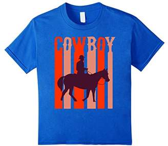 Vintage Retro Texas Cowboy Horse Riding Novelty T-Shirt