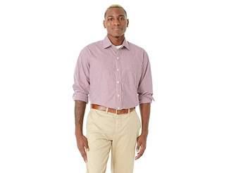 Magna Ready Long Sleeve Small Check Dress Shirt - Spread Collar