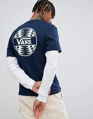 Vans double layer t-shirt in navy VN0A3HQCNAV1
