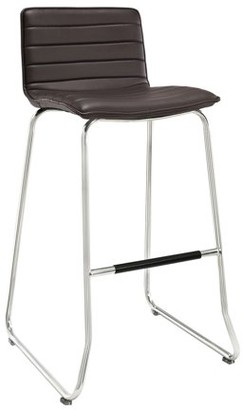 Modway Dive Bar Stool with Leatherette Seat, Multiple Colors