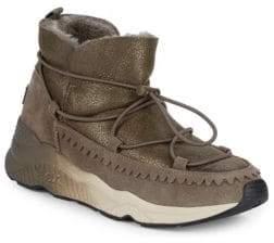 Ash Mitsouko Shearling & Suede Sneaker Booties