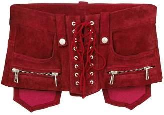 Unravel Project lace-up corset belt