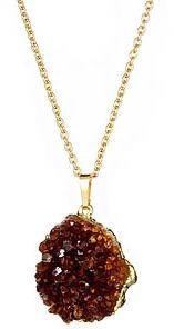 Yochi Design Yochi Raw Agate Stone Necklace