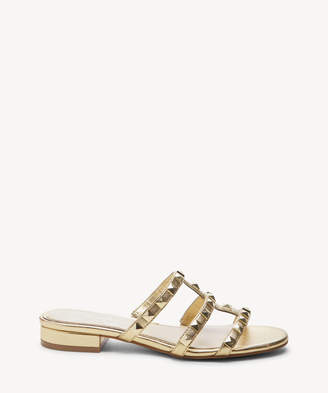 Jessica Simpson Women's Caira Multi Strap Sandals Supreme Gold Size 5 Leather From Sole Society