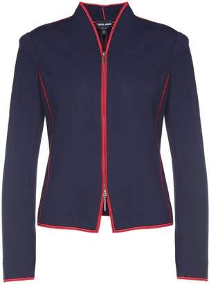 Giorgio Armani Zip-through Jaquard Jacket