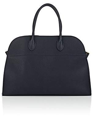 The Row Women's Margaux 15 Leather Satchel - Navy