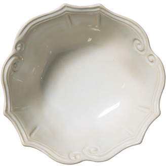 Vietri Incanto Stone Baroque Medium Serving Bowl, Linen